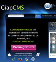 Editor pagina visuale, GiapCMS - drag and drop